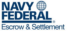 Navy Federal Escrow and Settlement Logo